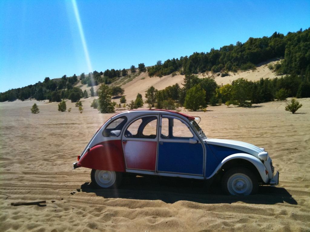 Elle passe sans probleme dans le domaine des dunes