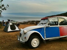 La deuche, voiture ideale pour le Camping